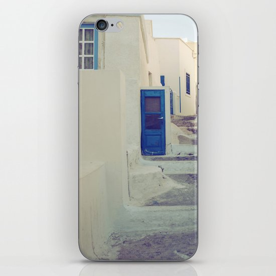 Santorini Door III iPhone & iPod Skin