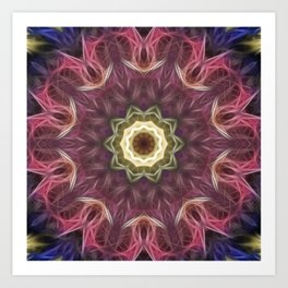 Pink Abstract Tile 20 Art Print