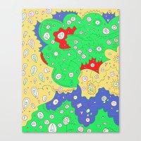 liz climo Canvas Prints featuring Liz by Amanda Trader