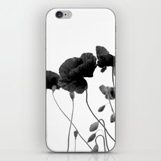 Poppy (black and white) iPhone Skin