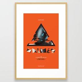 Grimes Gig Poster Framed Art Print