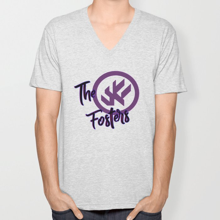 """The Fosters Band Shirt - """"The Ultimate Wingman"""" Klance Fic (Color Logo) Unisex V-Neck"""