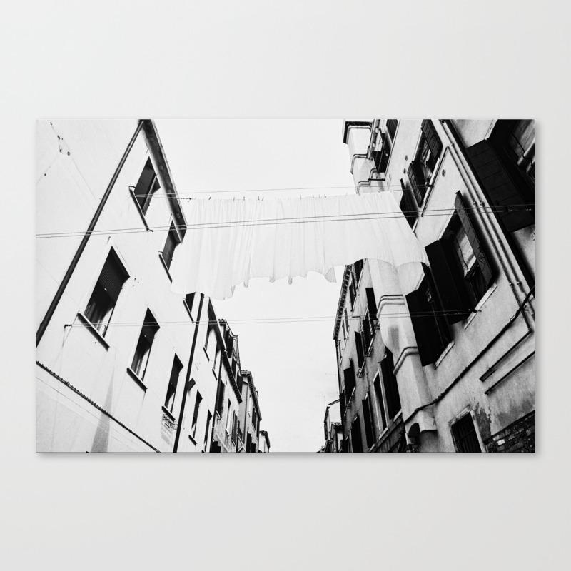 Venice italy film photo analog black and white canvas print