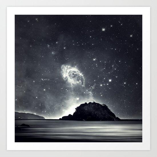 Island in the sea of eternity Art Print