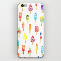 popsicle iPhone & iPod Skins featuring Popsicle by Golden Girl Art