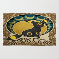 umbreon Area & Throw Rugs featuring Umbreon by Yamilett Pimentel