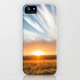 Grand Exit - Golden Sunset on the Oklahoma Prairie iPhone Case
