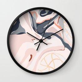 Elegant Zen Marbled Effect Design Wall Clock