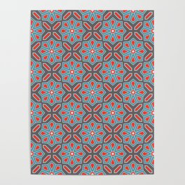 Volcanic Eruption Abstract Print Seamless Pattern Poster