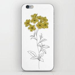 Botanical floral illustration line drawing - Iona iPhone Skin