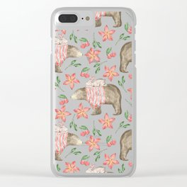 Bear Pattern #7 Clear iPhone Case