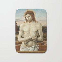 Imago Pietatis by Giovanni Bellini Bath Mat