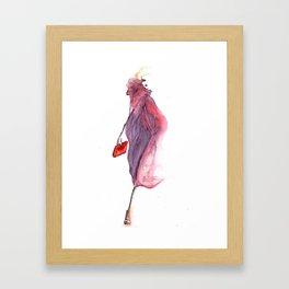 Pink veil Framed Art Print