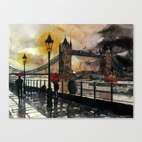 london Canvas Prints featuring London by takmaj