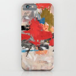 Abstract Expressionism Painting iPhone Case