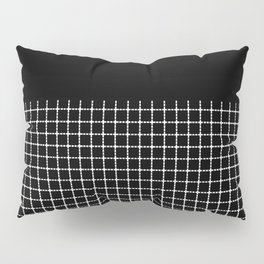 Dotted Grid Boarder Black Pillow Sham
