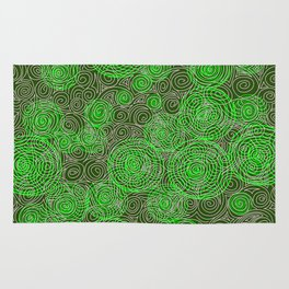 Spiral greenery magic ornament Rug