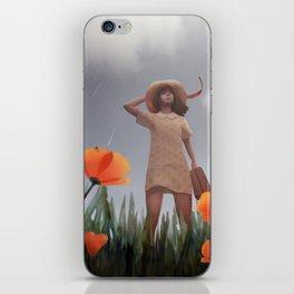 Wind rises in a poppy field iPhone Skin