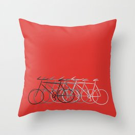 Just bike Throw Pillow