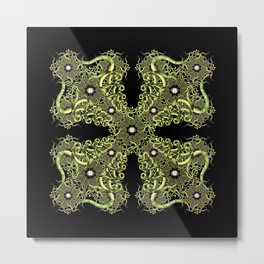 Serpentine Mandala I Metal Print