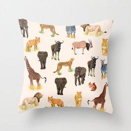 Safari Sightings Throw Pillow