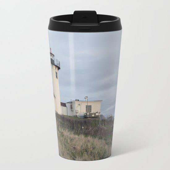 Eastern Point Lighthouse Metal Travel Mug