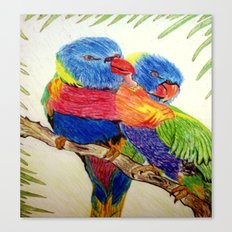 Aboriginal Art - Birds Canvas Print