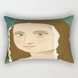 The gioconda with eyebrows Rectangular Pillow