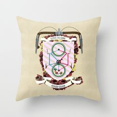 Love to Ride My Fixed Gear Bike Throw Pillow