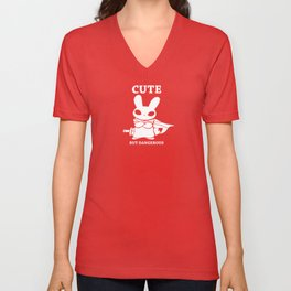 Cute but Deadly Unisex V-Neck