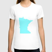 minnesota T-shirts featuring Blue Minnesota by Megan Pihlaja