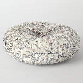Vintage Map of Arizona (1911)  Floor Pillow