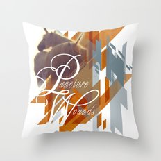 Puncture Wounds Throw Pillow