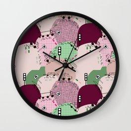 Four wheels purple #homedecor Wall Clock