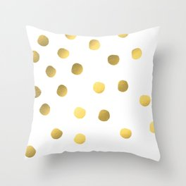 Painted spots of gold Throw Pillow