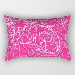 Hot Pink Trendy Abstract Art Pattern Rectangular Pillow