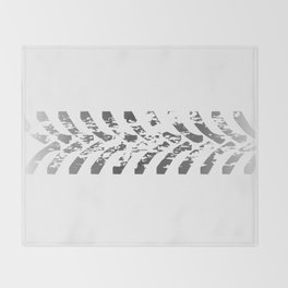 Tractor Tyre Marks Throw Blanket