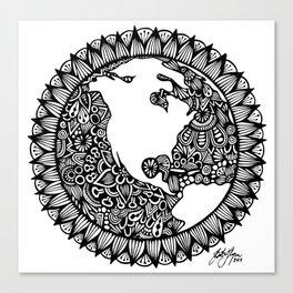 Zentangle - Zen World  Canvas Print