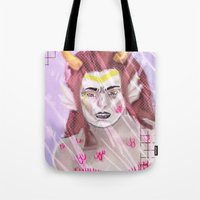 homestuck Tote Bags featuring Feferi  by Gin and Cats