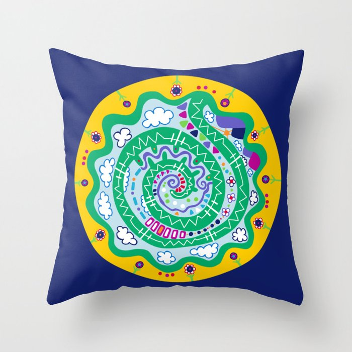Dot #12 by lalalamonique Throw Pillow