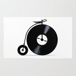 Penny Farthing With Vinyl Records Rug