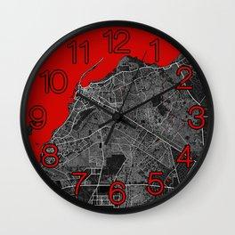 Luanda City Map of Angola - Oriental Wall Clock