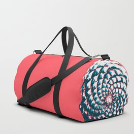 pine cone pattern in coral, aqua and indigo Duffle Bag