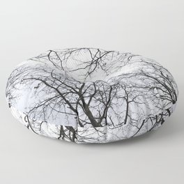 Naked trees tops Floor Pillow