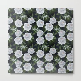 winter rose // repeat pattern Metal Print