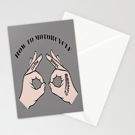 How To Motorcycle Stationery Cards