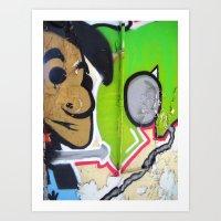 grafitti Art Prints featuring Grafitti Boy by Paulbo