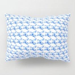 Minimalist Blue Pegasus Bubble Print Pillow Sham
