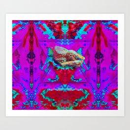 Nature of Chameleon Art Print
