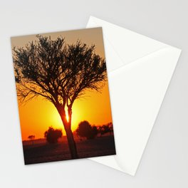Day starts in Africa Stationery Cards